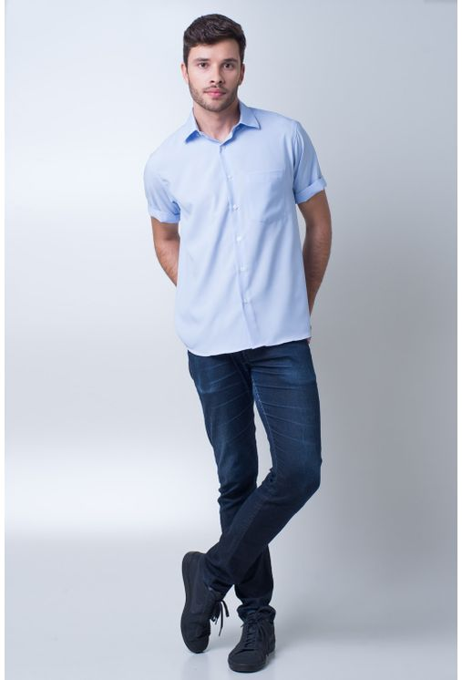 Camisa-casual-masculina-tradicional-microfibra-azul-claro-f06208a-detalhe2