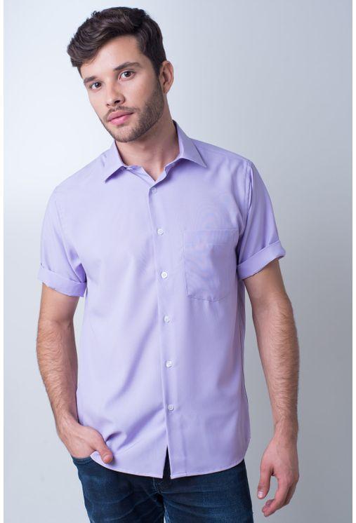 Camisa-casual-masculina-tradicional-microfibra-lilas-f06208a-frente