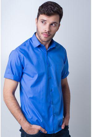 Camisa-basica-masculina-tradicional-algodao-misto-azul-medio-r09926a-frente