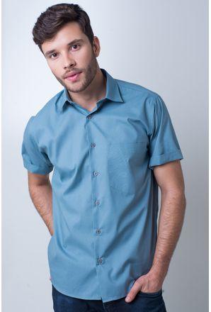 Camisa-basica-masculina-tradicional-algodao-misto-verde-r09926a-frente