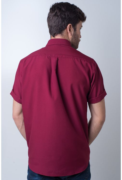 Camisa-casual-masculina-tradicional-microfibra-bordo-f06208a-frente