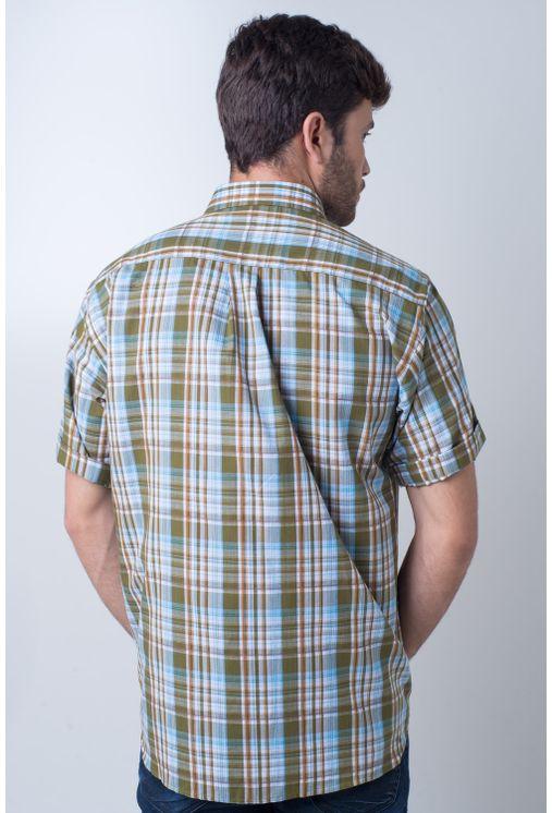 Camisa-casual-masculina-tradicional-algodao-fio-40-verde-f05527a-frente
