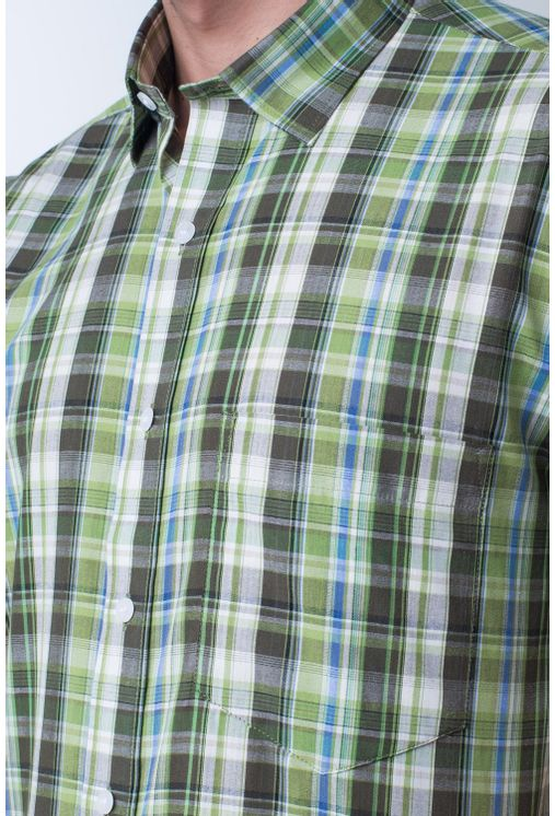 Camisa-casual-masculina-tradicional-algodao-fio-40-verde-claro-f05527a-frente
