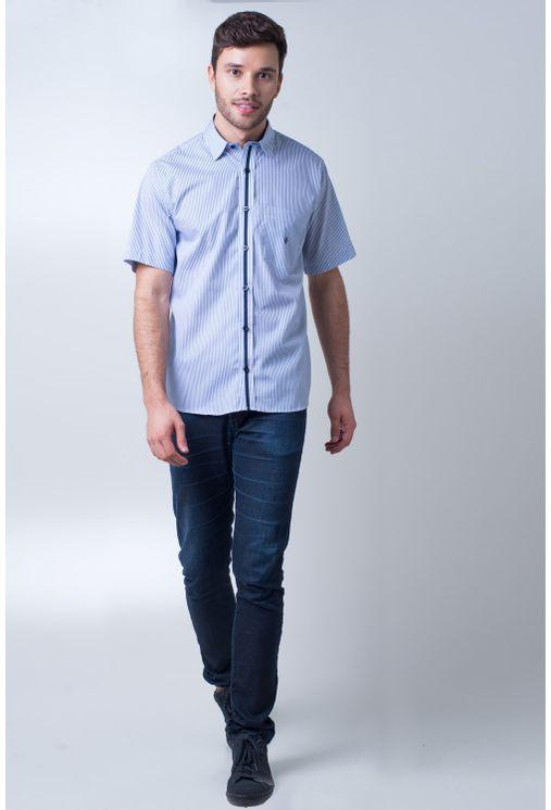 Camisa-casual-masculina-tradicional-algodao-fio-80-azul-medio-f01276a-frente