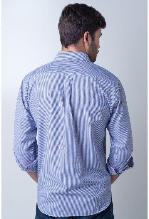 Camisa-casual-masculina-tradicional-algodao-azul-f01755a-frente