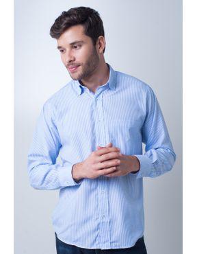 f41ba187c4 Camisa casual masculina tradicional passa fácil azul claro f01755a 01 ...