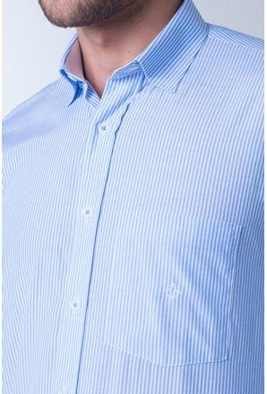 Camisa-casual-masculina-tradicional-algodao-azul-claro-f01755a-detalhe1