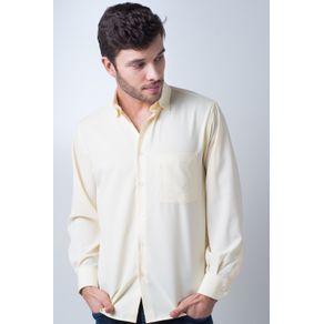 Camisa-casual-masculina-tradicional-microfibra-amarelo-f06208a-frente