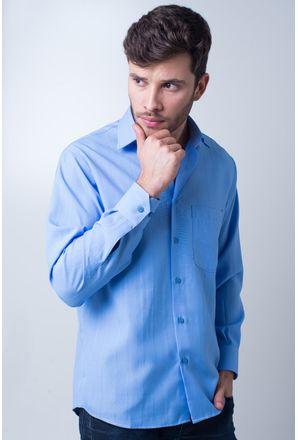 Camisa-casual-masculina-tradicional-microfibra-azul-medio-f06208a-frente