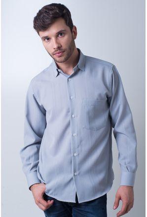 Camisa-casual-masculina-tradicional-microfibra-cinza-f06208a-frente