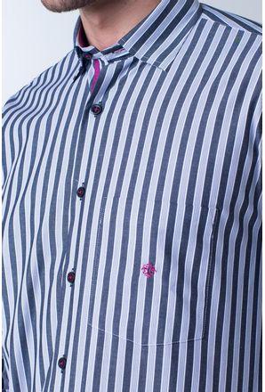 Camisa-casual-masculina-tradicional-algodao-fio-50-cinza-f01177a-detalhe1