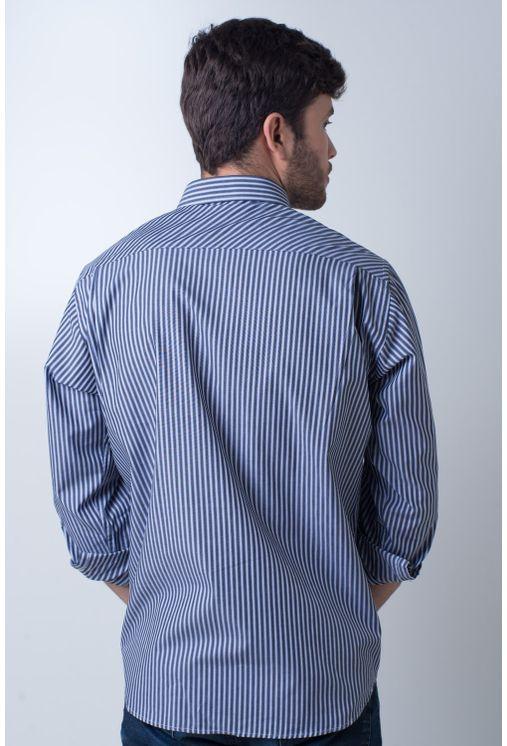 Camisa-casual-masculina-tradicional-algodao-fio-50-cinza-f01410a-verso
