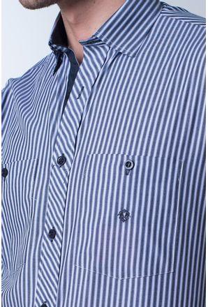 Camisa-casual-masculina-tradicional-algodao-fio-50-cinza-f01410a-detalhe1