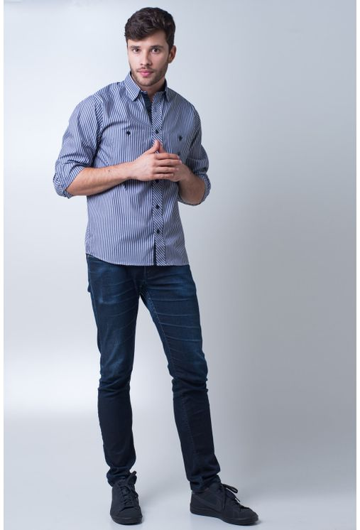 Camisa-casual-masculina-tradicional-algodao-fio-50-cinza-f01410a-detalhe2