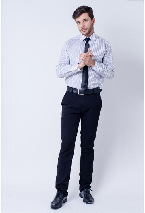 Camisa-casual-masculina-tradicional-algodao-fio-60-preto-f03823a-frente
