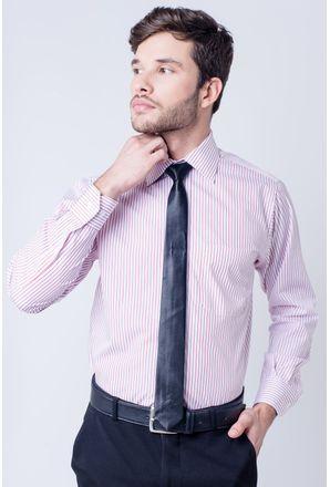Camisa-casual-masculina-tradicional-algodao-fio-60-vermelho-f03823a-frente