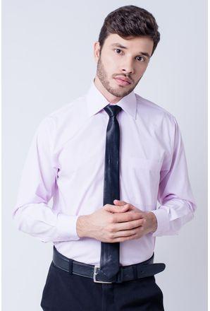 Camisa-casual-masculina-tradicional-algodao-fio-60-rosa-f03823a-frente