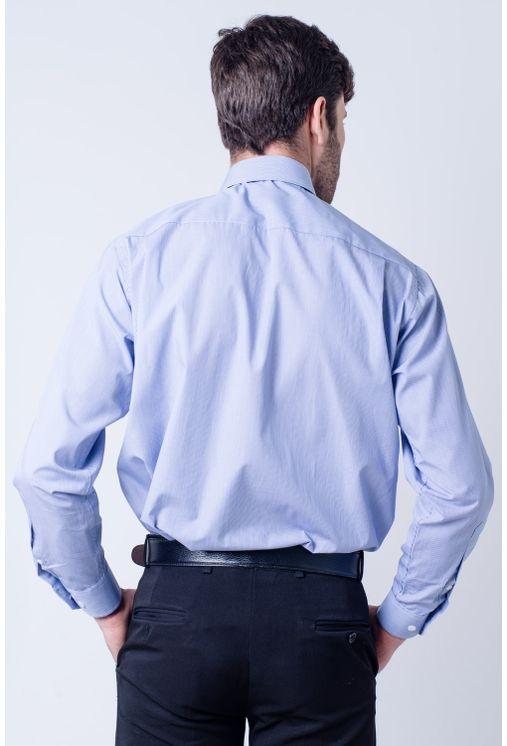 Camisa-casual-masculina-tradicional-algodao-fio-60-azul-escuro-f03823a-frente