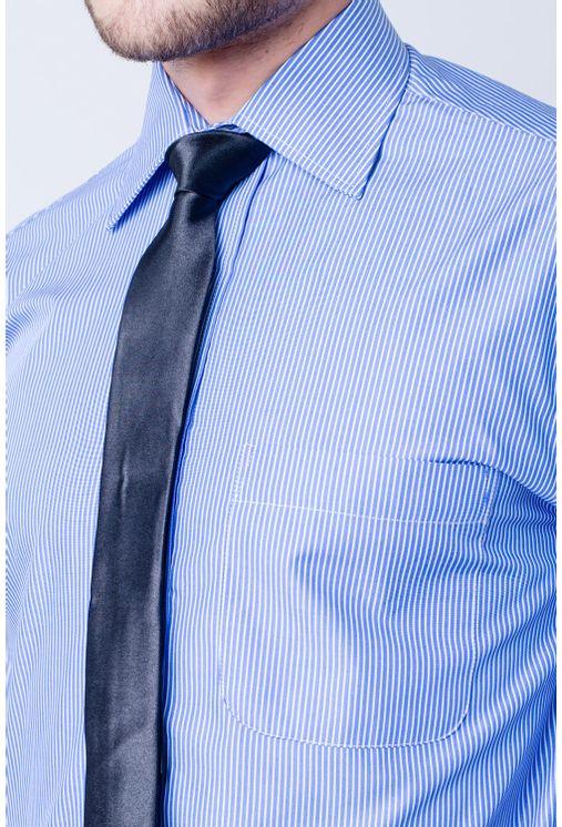 Camisa-casual-masculina-tradicional-algodao-fio-60-azul-medio-f03823a-frente