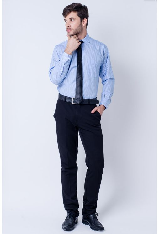 Camisa-casual-masculina-tradicional-algodao-fio-60-lilas-f03823a-frente