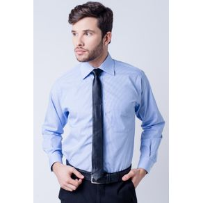 Camisa-casual-masculina-tradicional-algodao-fio-60-azul-claro-f03823a-frente