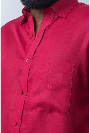 Camisa-casual-masculina-puro-linho-tradicional-vermelho-f03943a--detalhe1
