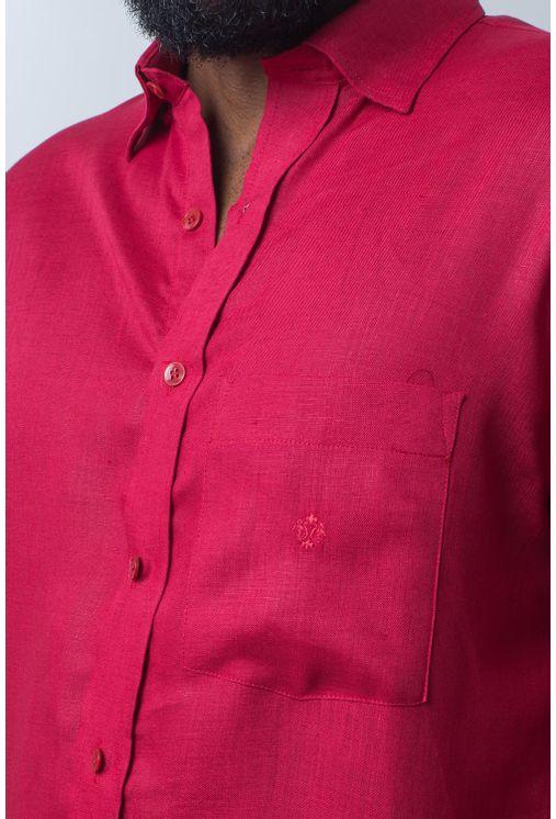 Camisa-casual-masculina-puro-linho-tradicional-vermelho-f03943a--frente