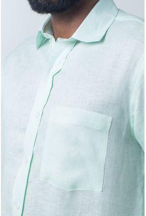Camisa-casual-masculina-puro-linho-tradicional-verde-r03943a-detalhe1