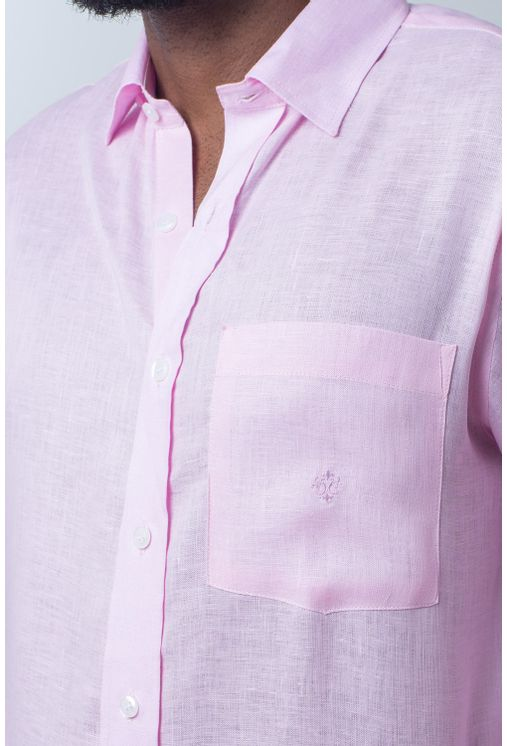 Camisa-casual-masculina-puro-linho-tradicional-rosa-r03943a-detalhe1