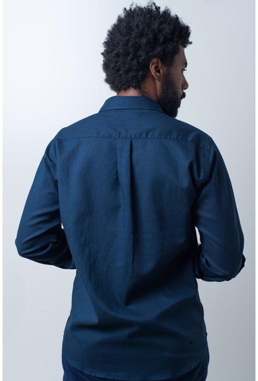 Camisa-casual-masculina-tradicional-linho-misto-azul-escuro-f01293a-verso