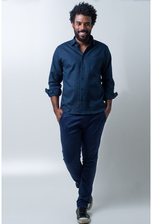 Camisa-casual-masculina-tradicional-linho-misto-azul-escuro-f01293a-detalhe2