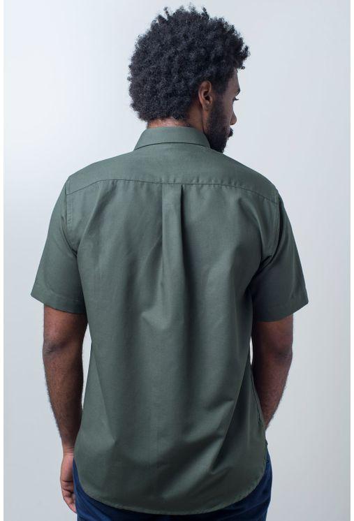 Camisa-casual-masculina-tradicional-sarjada-verde-f01681a-verso