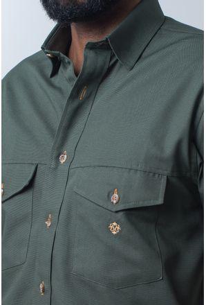 Camisa-casual-masculina-tradicional-sarjada-verde-f01681a-detalhe1