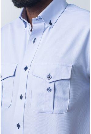 Camisa-casual-masculina-tradicional-sarjada-azul-claro-f01700a-detalhe1