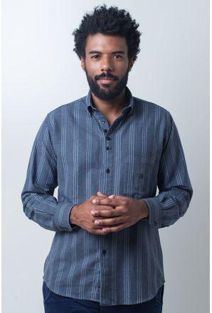 Camisa-casual-masculina-tradicional-flanela-grafite-f01100a-frente