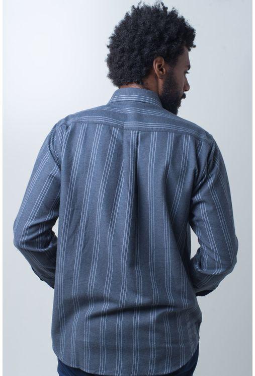 Camisa-casual-masculina-tradicional-flanela-grafite-f01100a-verso