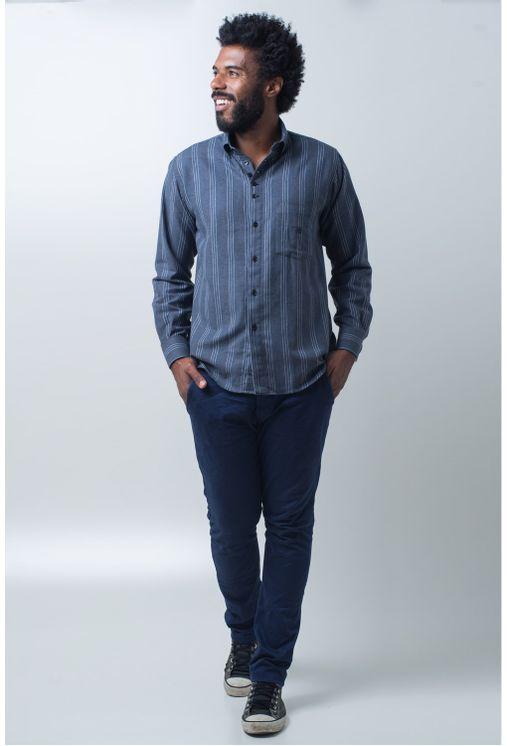 Camisa-casual-masculina-tradicional-flanela-grafite-f01100a-detalhe2
