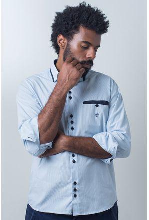 Camisa-casual-masculina-tradicional-algodao-fio-50-azul-claro-f01159a-frente