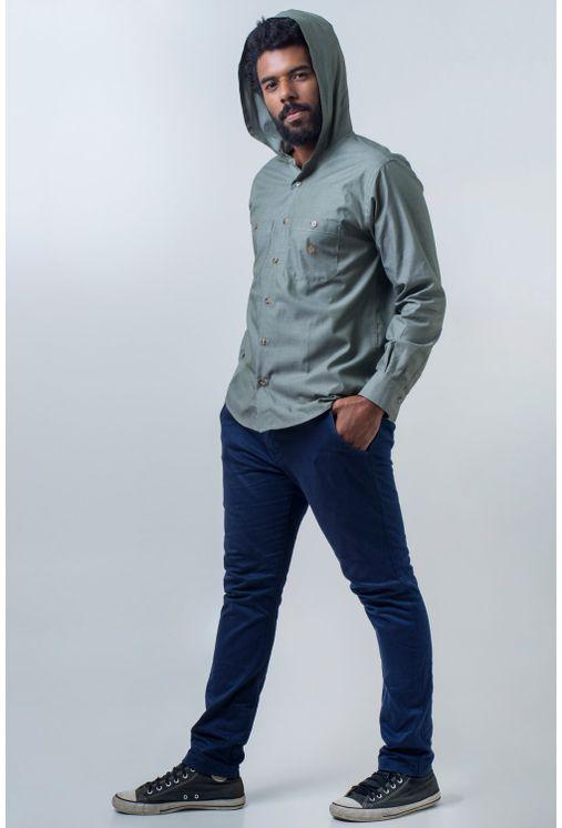 Camisa-casual-masculina-tradicional-algodao-fio-40-verde-f01444a-frente