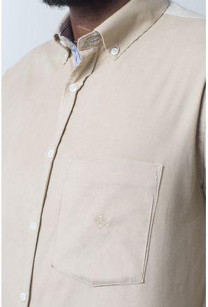 Camisa-casual-masculina-tradicional-veludo-creme-f01517a-detalhe1