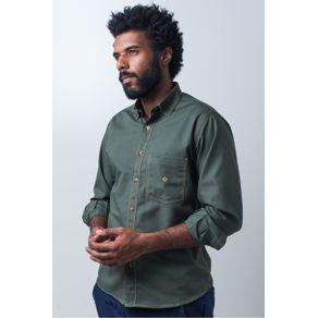 Camisa-casual-masculina-tradicional-sarjada-verde-f01679a-frente