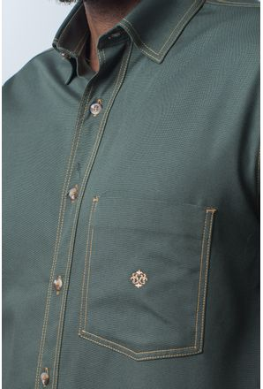 Camisa-casual-masculina-tradicional-sarjada-verde-f01679a-detalhe1