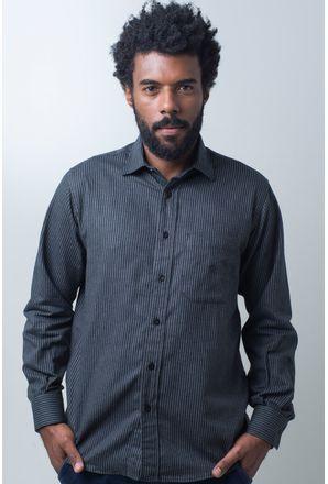 Camisa-casual-masculina-tradicional-flanela-preto-f01730a-frente