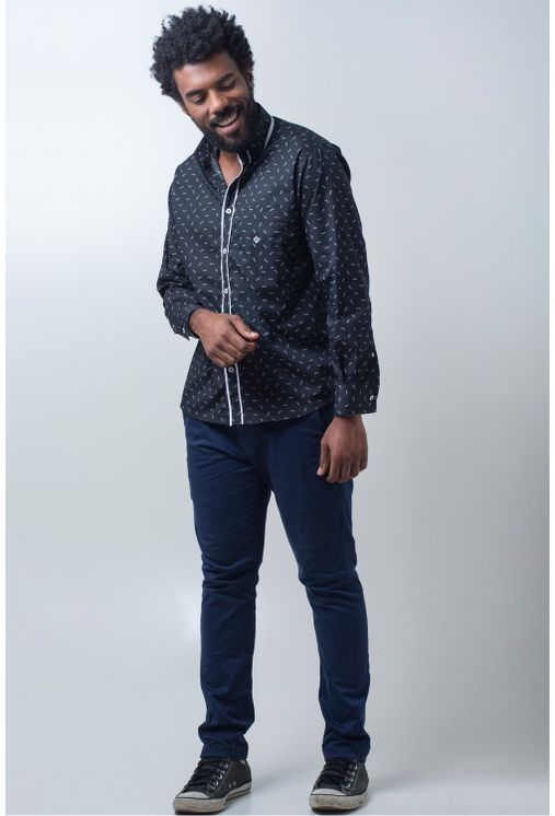 Camisa-casual-masculina-tradicional-algodao-fio-60-preto-f01784a-detalhe2