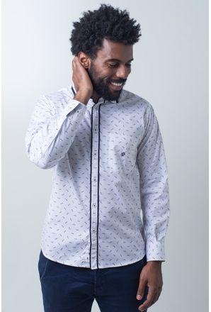 Camisa-casual-masculina-tradicional-algodao-fio-60-branco-f01784a-frente