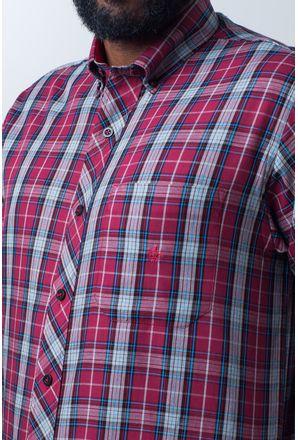 Camisa-casual-masculina-tradicional-algodao-fio-40-vermelho-f01830a-detalhe1
