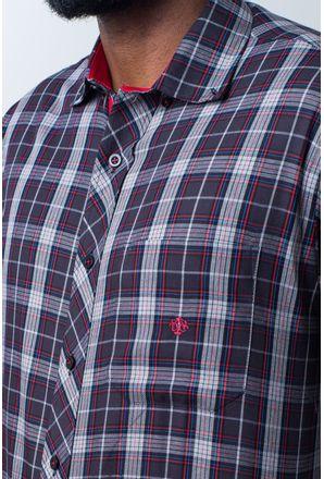 Camisa-casual-masculina-tradicional-algodao-fio-40-preto-f01830a-detalhe1