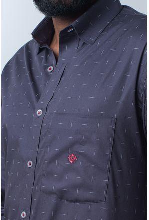 Camisa-casual-masculina-tradicional-algodao-fio-40-grafite-f01863a-detalhe1