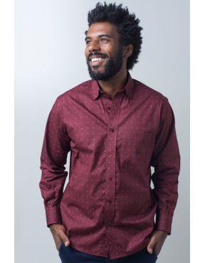 Camisaria Fascynios Oficial · Camisa Casual Masculina · Algodão Fio 40.  Camisa casual masculina tradicional algodão fio 40 bordo f01863a 01 ... ffc2399d4b3e2