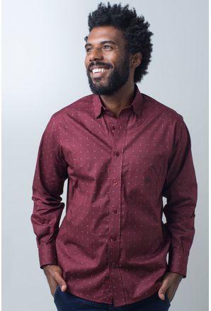Camisa-casual-masculina-tradicional-algodao-fio-40-bordo-f01863a-frente